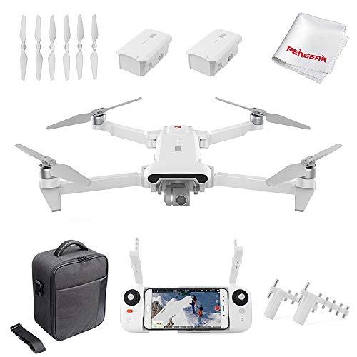 FIMI X8SE 2020 Quadcopter Drone Kit 8km Range 4K Camera UHD 100Mbp HDR Video 70mins Flight Time FlyCam Quadcopter UAV GPS Tracking Smart Remote Control ler, W Signal Booster, White