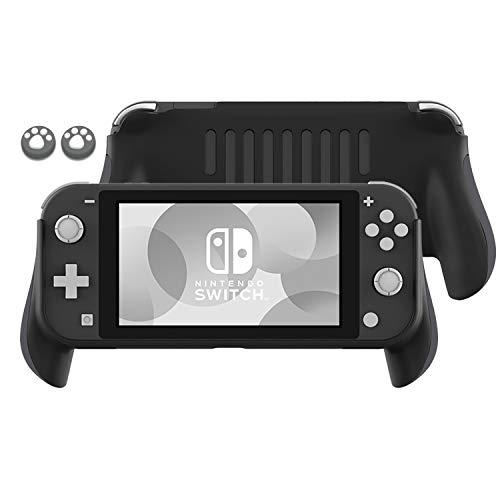 Lammcou Soporte de Mango para Switch Lite 2019, empuñaduras de Interruptor Lite y Tapas de Joystick de diseño de Garra de Gato para Soportes de Switch Lite Grip- Gris