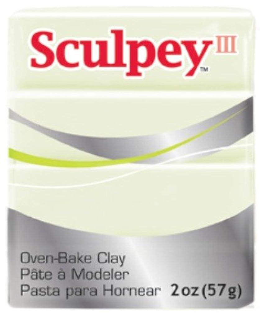 Sculpey III Polymer Clay 2 Ounces-Glow In The Dark