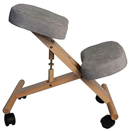 Professional Ergonomic Kneeling Chair with Adjustable Height Harder Seats...