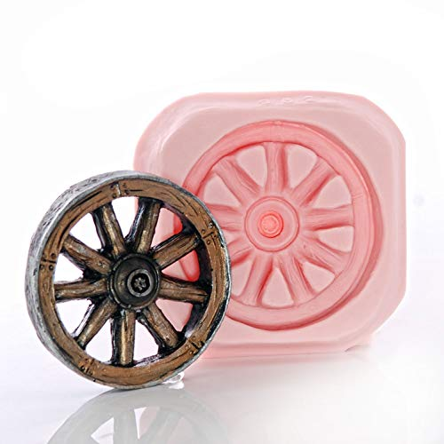 Wagon Wheel Silicone Mold Easy to use with Fondant Chocolate Resin Clay Western Wheel Mold Made From Flexible Food Safe Silicone
