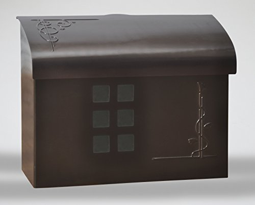 Ecco E7 Arts and Crafts Mailbox - Large Brass Wall Mount Mailbox - 6 Finishes Available (Bronze)