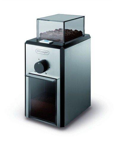 DeLonghi KG 89 Professionelle Kaffeemühle (Kunststoffgehäuse, bis zu 12 Tassen) silber
