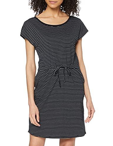 Vero Moda Vmapril SS Short Dress Ga Noos Vestido, Multicolor (Black Stripes: Snow/Rebecca), 36 (Talla del Fabricante: X-Small) para Mujer