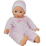 The New York Doll Collection Cuerpo Suave Caucásico Bebé 14 pulgadas / 36 cm Muñeca - Venda Ajuste y Rosado Vestido (Prima Chupete Incluido)