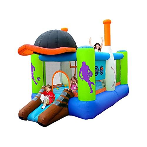 LGLE Trampolín inflable de la casa del castillo hinchable de los niños, castillo animoso inflable y tobogán, con inflador al aire libre del juego del jardín de la actividad divertida, 427X246X283cm,