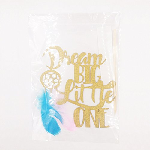 BESTOYARD Baby Shower Party Decoration Balloons Banner Paper Pom Poms Dream Catcher Glitter Cake Topper OH Baby Birthday Decoration Set for Party (Yellow)