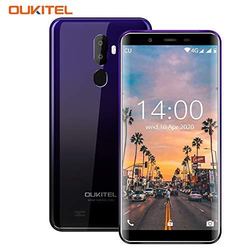 OUKITEL U25 PRO,5.5 Zoll FHD Smartphone Ohne Vertrag 4GB RAM+64GB ROM,Dual SIM 4G Günstige Smartphone,Triple Kameras(13MP+2MP+5MP) Handy mit Fingerabdruck,Lila