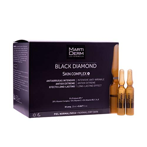 Martiderm Black Diamond Skin Complex 30 Ampoules | Moisturizing, Firming, Antioxidant & Repairing Properties | Quick Absorption of Vitamin C | Anti-Aging Treatment for Normal & Dry Skin |