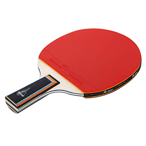 Amazing Deal SDSDEK Professional Pingpong Racket Wood Rubber Anti-Skid Handle Table Tennis Paddle wi...