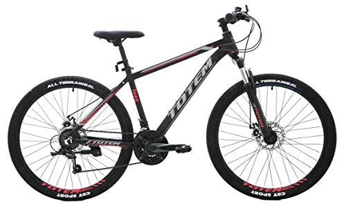 UK Stock SALES Lightweight 26'' Mountain Bikes Bicycles with 21 Speeds SHIMANO Gear and Aluminium Frame Disc Brake (Black)