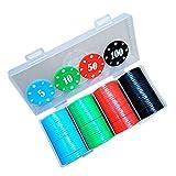 YYHJ Set de Poker,100 Fichas Profesional Juego de Póquer,con...