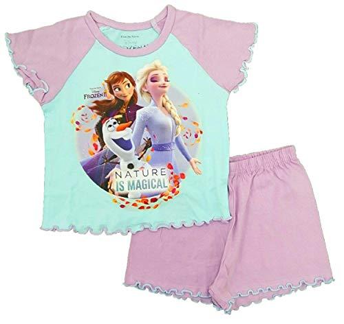 Mädchen Schlafanzug Disney Elsa Anna Gr. 92, Frozen 2 Short