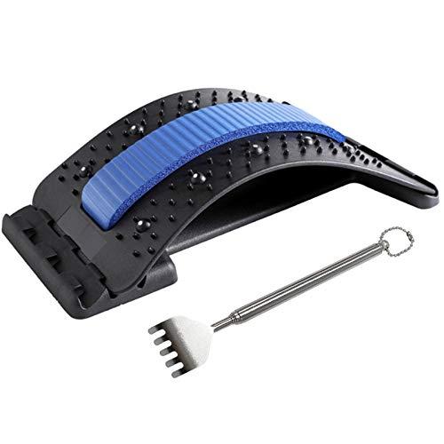 HEBANG Rückenstrecker, Rückenmassagegerät zur Schmerzlinderung, Back Stretche, 3 Stufen Einstellbar Rückendehner für Lendenwirbelsäule Rückenschmerzen Linderung und Entspannung