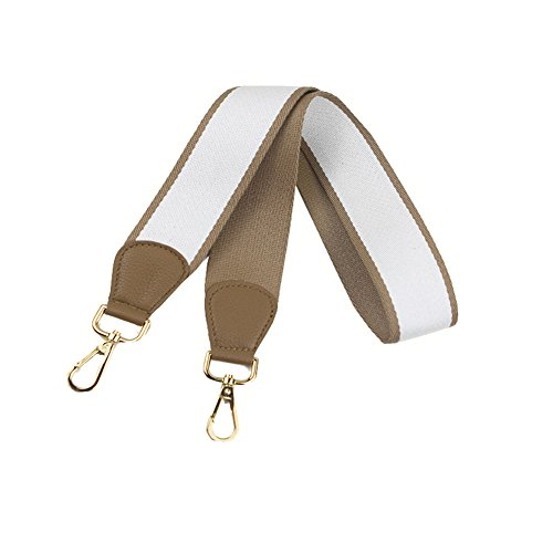 Umily Damen 103cm Schultergurt breiter Schultergurt/Schulterriemen handtaschen/Schulterriemen bunt für Schulterriemen Tasche, Tragetaschen und Handtaschen(Weiß)