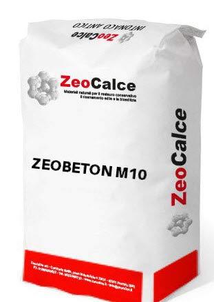 ZEOBETON - Malta strutturale pozzolanica fibro rinforzata a base di legante FL in calce aerea e pozzolana - bancale da 1.500 kg (n° 60 sacchi 25 kg)