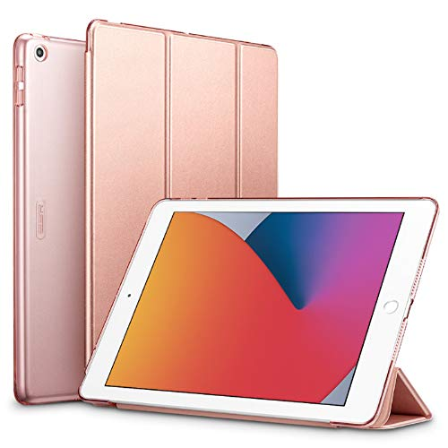 ESR Case for iPad 8th Generation (2020)/7th Generation (2019), Trifold Case for iPad 10.2 Inch [Auto Sleep/Wake Cover] [Lightweight Case with Viewing Stand] Ascend Series,Rose Gold