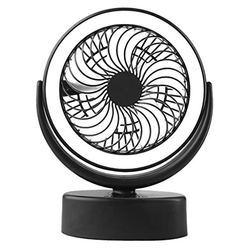 lahomia Ventilador de Tienda Al Aire Libre Luz para Acampar Linterna Ventilador de Enfriamiento Personal de 2 Velocidades con Gancho