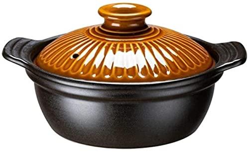 DUDDP Cacerola Casserola de cerámica de la cazuela de Arcilla de Arcilla de la Olla de la Terracota - conducción de Calor rápido, Almacenamiento de Calor y Ahorro de energía, Sana y Duradera