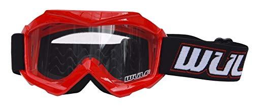Gafas de motocross para niños, para motocicleta, todoterreno, ATV, Bmx, Quad, Dirt Bike Racing, protección para niños y niños, color rojo