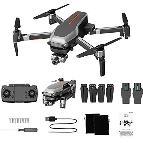 Lailuaxoa Drone GPS con videocamera 4K HD per Adulti, 5G WiFi 2 Assi Gimbal Drone Pieghevole a Lungo Tempo di Volo Motore Senza spazzole Quadricottero Professionale per Principianti