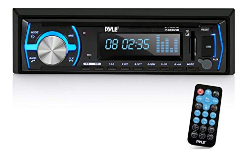 Pyle Marine Bluetooth Stereo Radio - 12v Single DIN Style Boat In dash Radio Receiver System with...