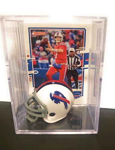 Josh Allen Buffalo Bills Mini Helmet Football Card Display Case Collectible Auto Shadowbox Autograph