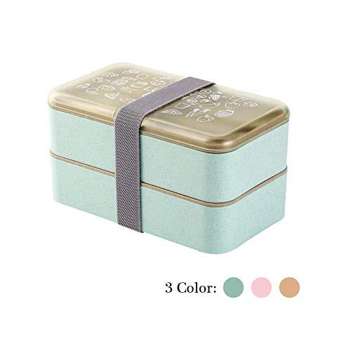Lunchbox da Viaggio,Bento Box impilabile Bento Box da Viaggio Portatile da Viaggio Set di Posate per bento Box Pranzo Contenitore biodegradabile Contenitore per Alimenti Lunch Jar