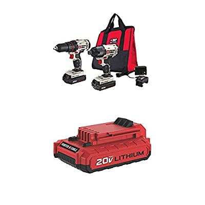 PORTER CABLE PCCK604L2 20V MAX 2-Tool Cordless Drill/Driver and Impact Driver Combo Kit