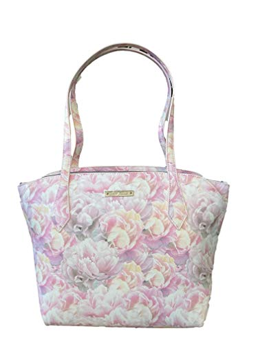 Betsey Johnson Greer Triple Compartment Tote White/Pink One Size