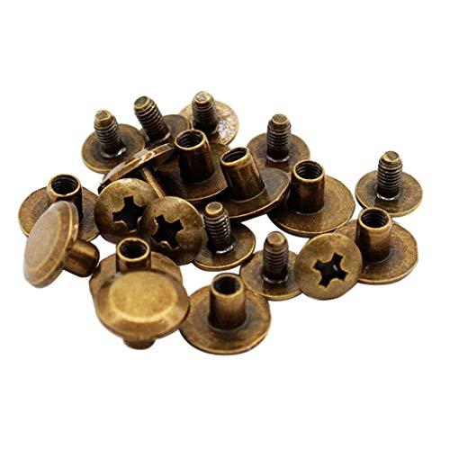 Baoblaze 10 Schrauben Nieten 10X5mm Gürtelschrauben Buchschrauben für Lederhandwerk, Dokument, Buch und Album