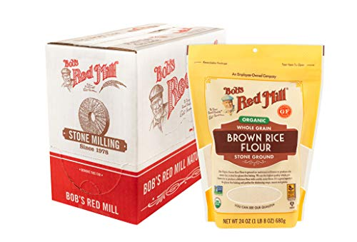 Bob's Red Mill Organic Brown Rice Flour, 24 Oz (Pack of 4)