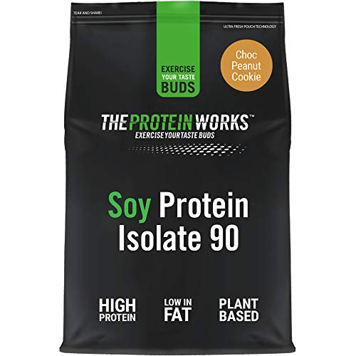Soy Protein 90 (Isolate) Protein Powder | 100% Plant-Based | Low Fat | No Added Sugar | Gluten-Free | THE PROTEIN WORKS | Choc Peanut Cookie | 500 g