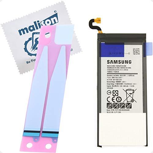 Batería para Samsung Galaxy S6 Edge Plus | SM-G928F | EB-BG928ABE | Batería de repuesto | Incluye paño de limpieza de pantalla | Batería con tiras adhesivas para reparación