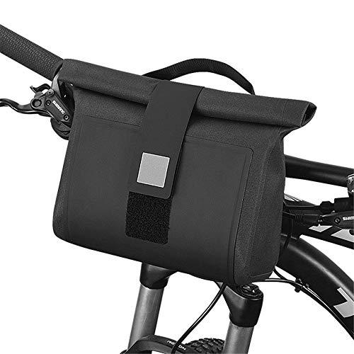 Bike Handlebar Bag Bicycle Front Bag Bicycle Riding Bag Handlebar Bag Bicycle Frame Bag for Road MTB Outdoor (Color : Black, Size : 2L)