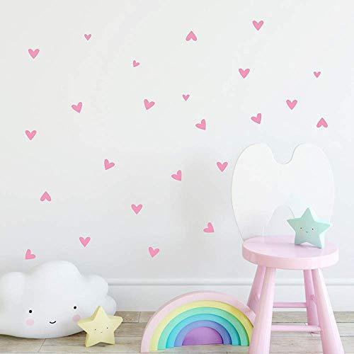 Pegatinas de pared, diseño de corazón, decoración del hogar, decoración del hogar, decoración del hogar, 22 piezas LTLNB
