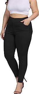 Women Plus Size Skinny Pants Stretch Slim Fit Pull-on...