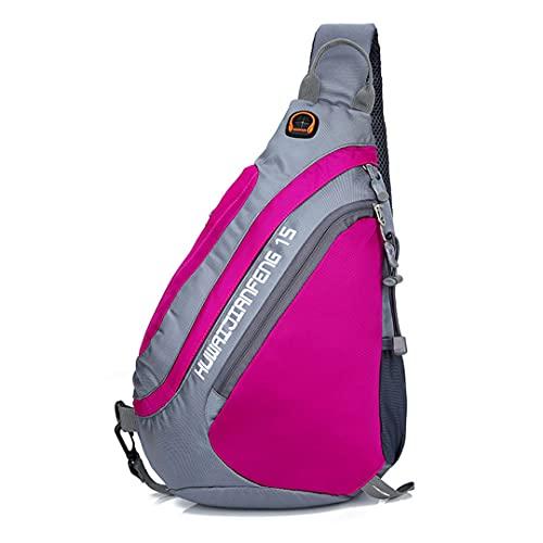 Ynrbeminb Ejecutar Fitness montañismo Paquete de Pecho Hombres Bolsa de Hombro Satchel Satchel Outdoor Deportes Mochila Mochila Ocio Bolsa de Ocio Pink Color