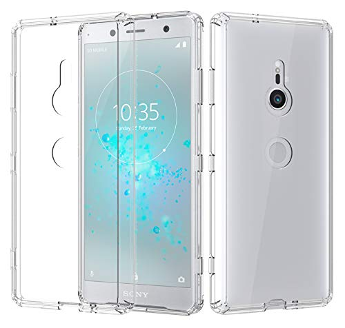 """ShinyMax Sony Xperia XZ3 Clear Case,Sony Xperia XZ3 Phone Case,Transparent Hybrid Sturdy Protective Cover Flexible Shockproof Slim Case Compatible with Sony Xperia XZ3 w/6.0"""" Display (2018)"""