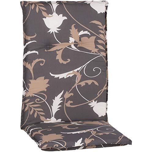 Beo Gartenmöbel Auflage Blumen grau beige für Hochlehner Bata M918