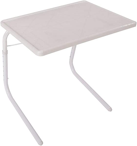 Foldable TV Tray Tables Portable Folding Snack Table Adjustable Sofa Side Table For Breakfast Bed Table Foldable Assembled Bed Table For Home Use