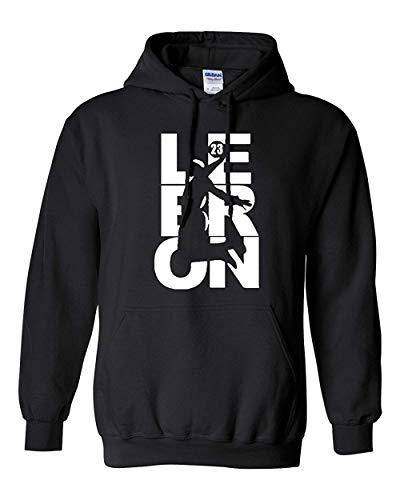 City Shirts Mens Lebron Fan Wear Cleveland Sweatshirt Hoodie (Large, Black)