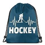 Hockey Drawstring Backpack Rucksack Sacs à bandoulière Sac de Sport