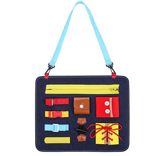 DTKID Montessori Spielzeug , Aktivität Busy Board für Kleinkinder, Basic Motor Skills Activity Board Frühpädagogisches und Sensorisches Spielzeug für 1-4 jährige Mädchen, Jungen Reißverschlüssen