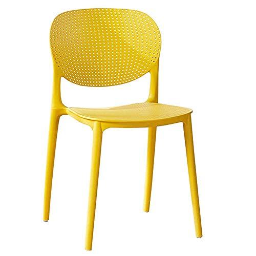 WSDSX Stuhl Modern Design Esszimmerstühle Rückenlehne Design Atmungsaktiver Sitz Wohnzimmer Lounge Chair Lager 260Lbs Modern Lounge Büromöbel (Farbe: Blau)