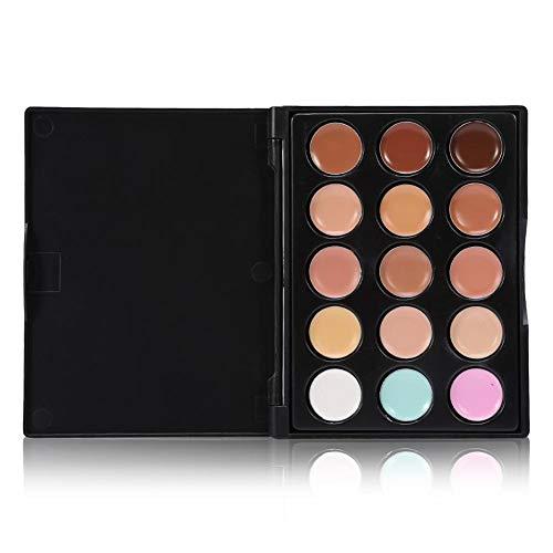 Corrector profesional del maquillaje, paleta del maquillaje del contorno del crema del corrector del ojo de la cara de 15 colores Por filfeel(#1)