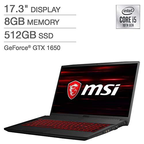 "10th Gen Intel Core i5-10300H Processor 17.3"" Full HD (1920 x 1080) 120Hz Display 512GB NVMe Solid State Drive, 8GB DDR4 2666MHz RAM NVIDIA GeForce GTX 1650 4GB Graphics Single Backlight with Anti-Ghosting Key + Silver Lining, Wifi AX, Bluetooth, Win..."