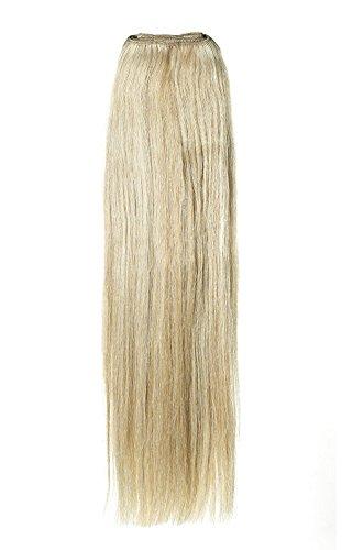 American Dream Remy 100% cheveux humains 35,6 cm soyeuse droite Trame Couleur 14/22 – Blond Cendré Naturel/blond Plage