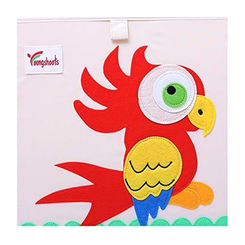 N / A 13 Zoll Würfel Kinder Aufbewahrungsbox Cartoon Stoff Tier Spielzeug Aufbewahrungsbox Kleidung Aufbewahrungsbehälter für Baby Brustkorb Organizer Box 33x33x33CM