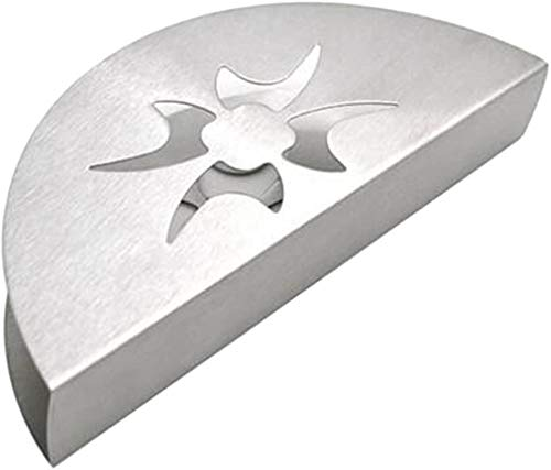 Stainless Steel Fan-Shaped Tissue Napkin Holder Free-Standing Paper Rack New - Floral